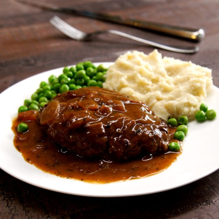 Restaurant Style Homemade Salisbury Steaks