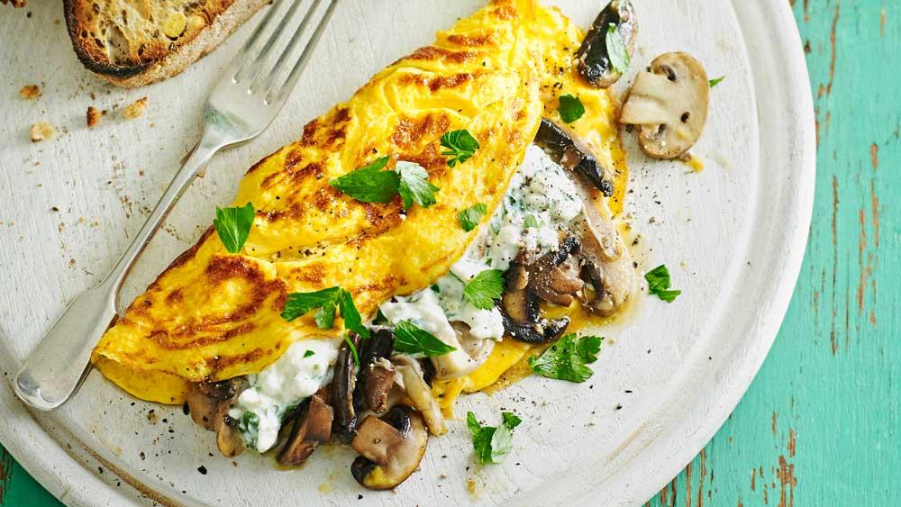 Mushroom & Cheese Omelette Recipes