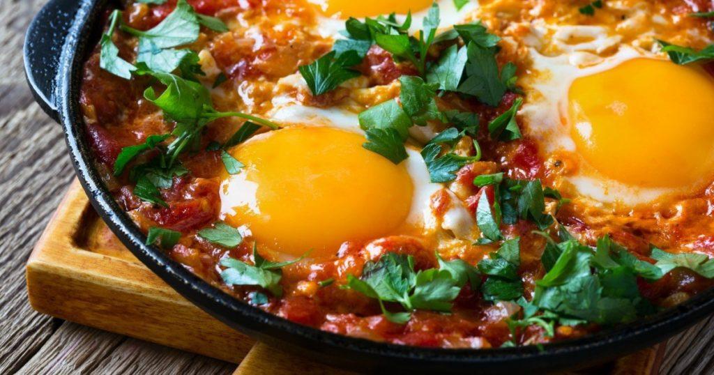 Spanish Style Baked Eggs