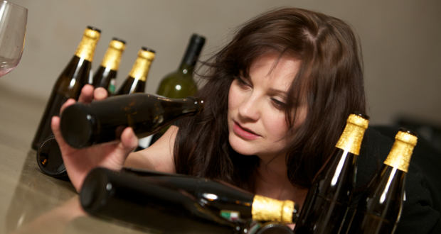 alcohol addicted women