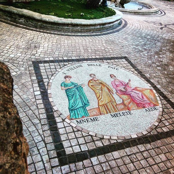 A beautiful mosaic near the frog fountain