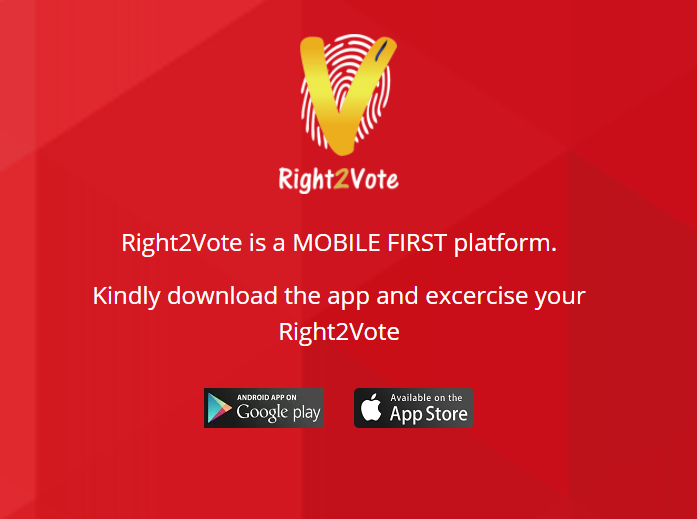 Voting App Right2Vote