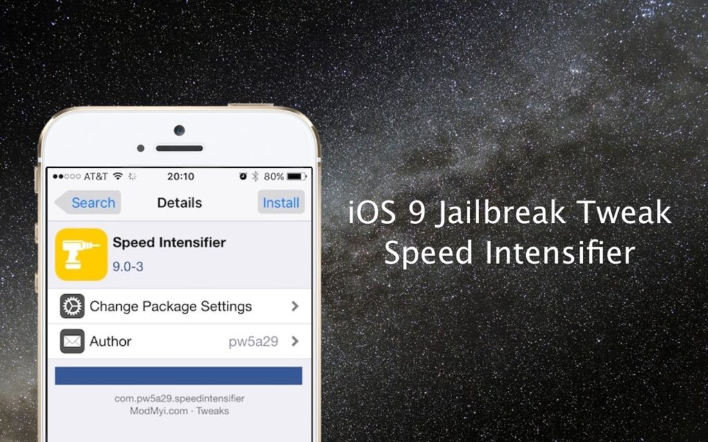 iOS 9 Jailbreak Tweak Speed Intensifier