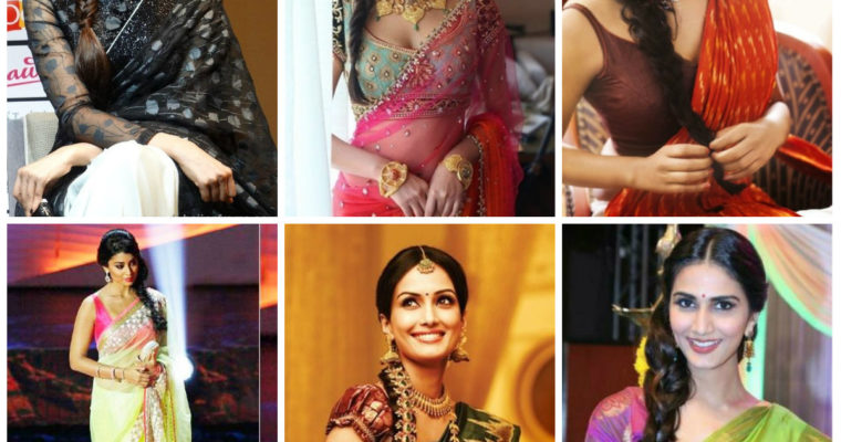 12 Best Hairstyles for Party Wear Sarees