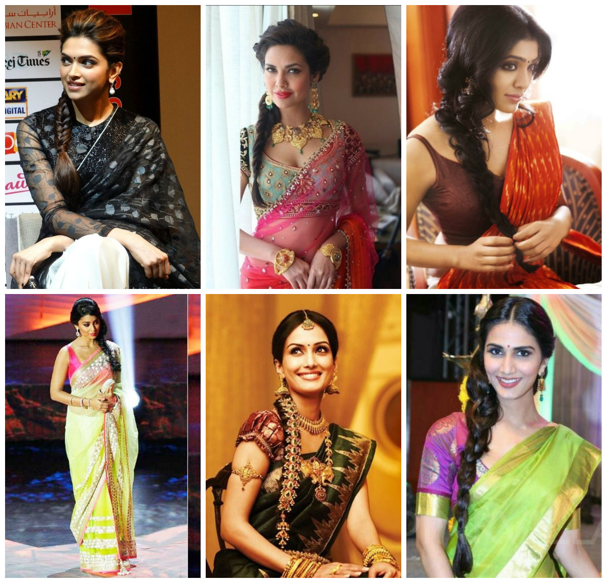 12 Best Hairstyles For Party Wear Sarees Wanderglobe