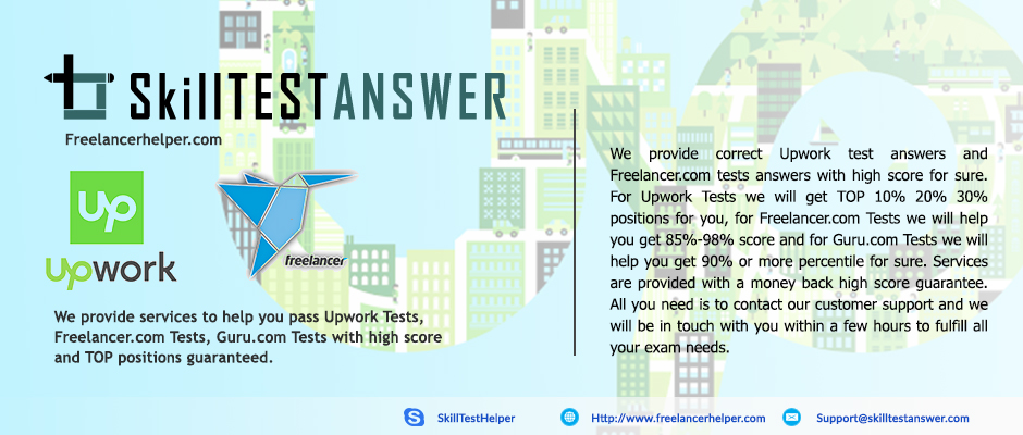 Upwork skill tests answer