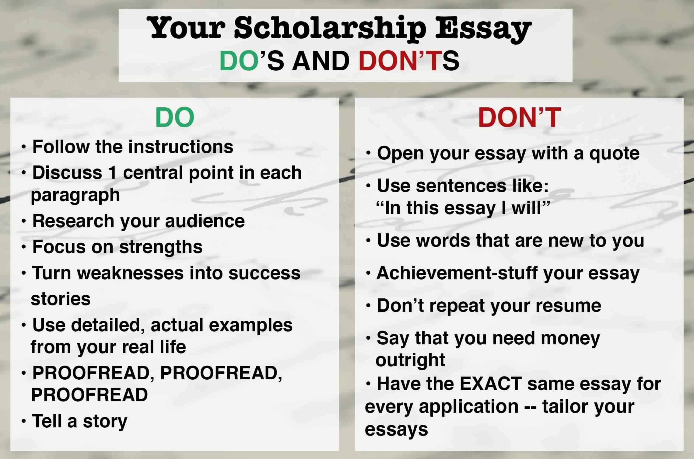 how to write a scholarship essay samples