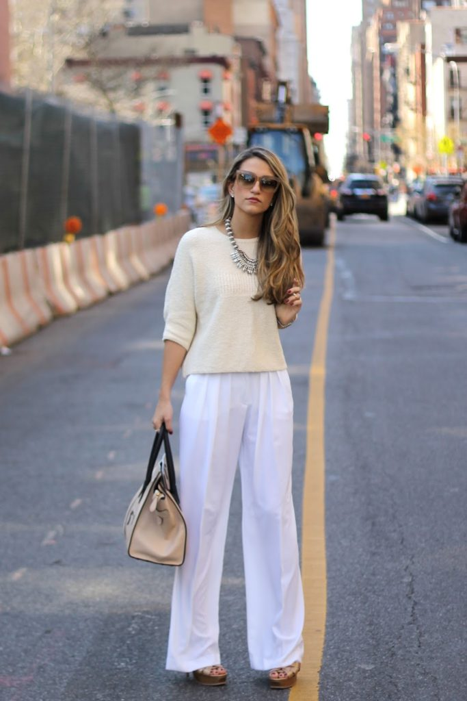 cropped jumper with palazzo pants