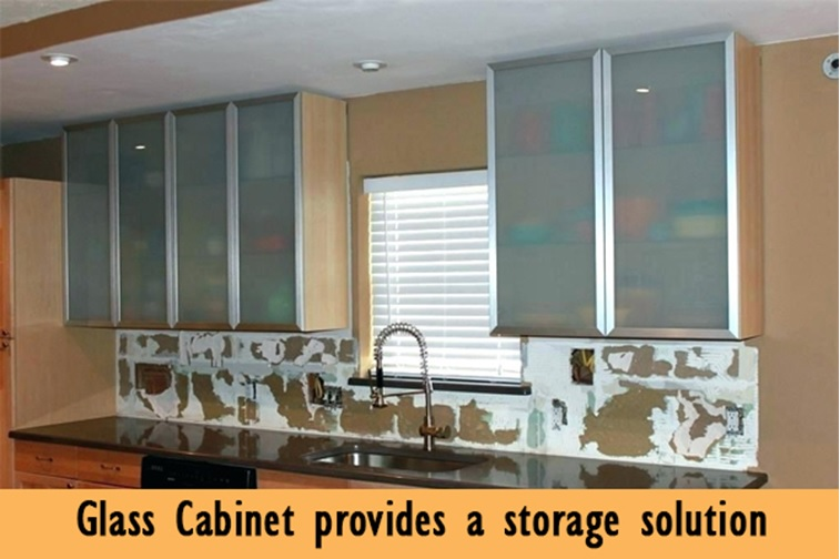 Glass Cabinet Provides a Storage Solution