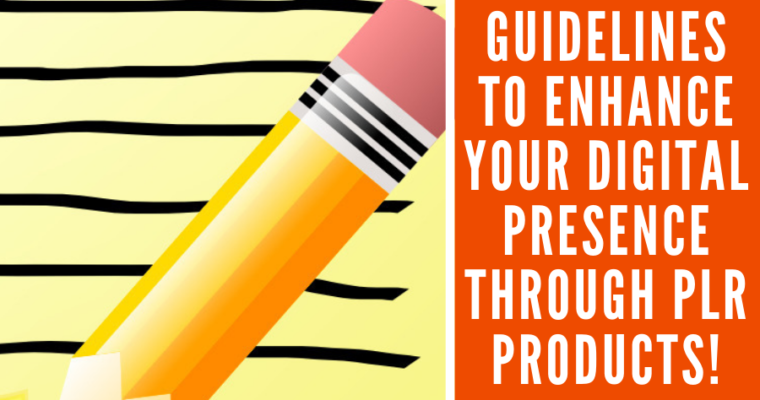 Guidelines to Enhance Your Digital Presence through PLR Products!